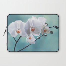 Orchid white macro 084 Laptop Sleeve