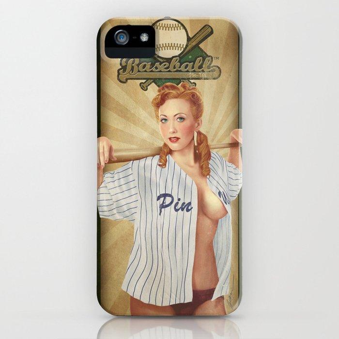 VINTAGE GIRLS - Baseball iPhone Case