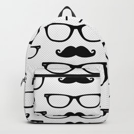 Hipster Pattern White and Black Backpack