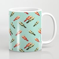 otters Mugs featuring Otters' attractions by Lillian Ip-Koon
