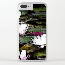 Lily pads Clear iPhone Case