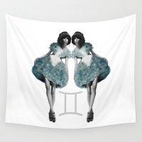 gemini Wall Tapestries featuring Gemini  by BeckiBoos