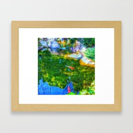 Glowing Reflecting Pond Framed Art Print