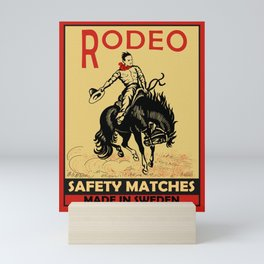 The Vintage Rodeo Safety Matches Mini Art Print
