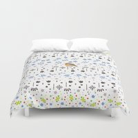 robin williams Duvet Covers featuring Robin by Ornaart