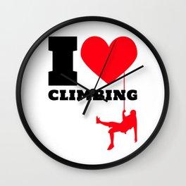 I love Climbing - Funny Climber Gift Wall Clock