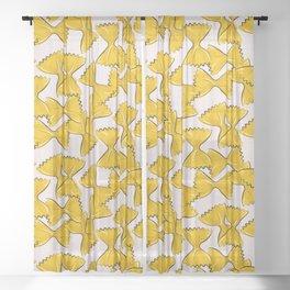 Pasta bow Sheer Curtain