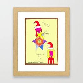 Happiness lives forever Xmas 2K18 Framed Art Print