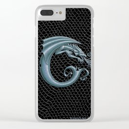 Dragon Letter C, from Dracoserific, a font full of Dragons. Clear iPhone Case