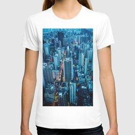 Hong Kong downtown at night T-shirt