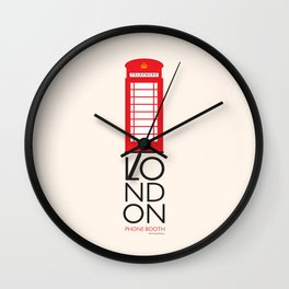 London Inspired: Phone Booth Wall Clock