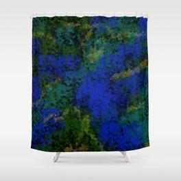 Peacock crystal mosaic Shower Curtain