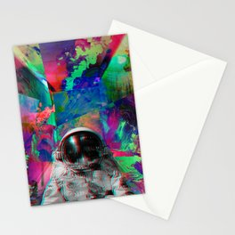 Tripping Space Man Stationery Cards