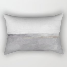 Light & Dark Gray with Gold Charcoal Grey Abstract Painting, Modern Wall Art, Rectangular Pillow