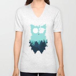 Winter Owl Unisex V-Neck