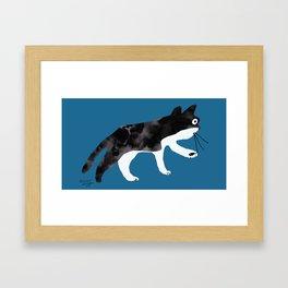 wilbur the cat Framed Art Print