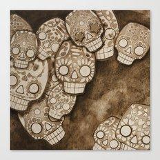 skull fresco Canvas Print