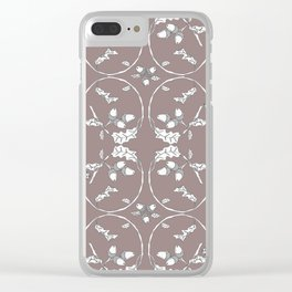 Acorns and ladybugs cocoa pattern Clear iPhone Case