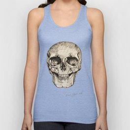 Human Skull En Face Unisex Tank Top