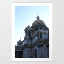 The architecture of St. Isaac's Cathedral. Art Print