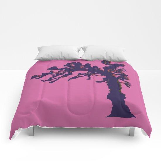 pop winter tree Comforters