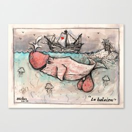 Le Baleineau Canvas Print