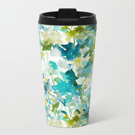 Local Color (Teal) Metal Travel Mug