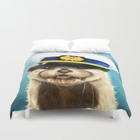 otter Duvet Covers featuring Captain Otter by tillieke