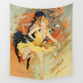 Dance ballet by Jules Chéret Wall Tapestry