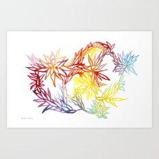 Flower Burst Color High Art Print