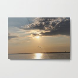 Sun Goes Down on the Bay Metal Print