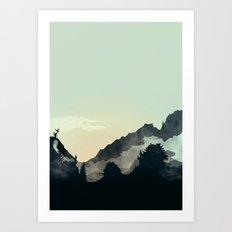 Misty Mountain Art Print
