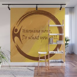 Harming None Do What You Will Color Background Wall Mural