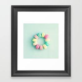 Macarons, macaroons circle, pop art Framed Art Print