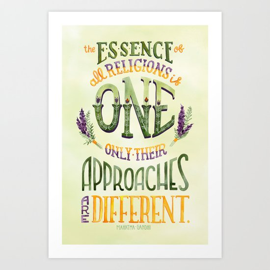 The Essence is One Art Print