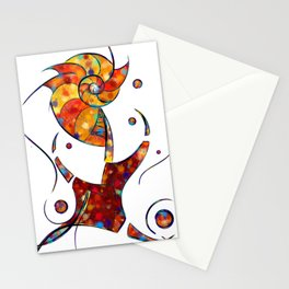 Espanessua - imaginery spiral flower Stationery Cards