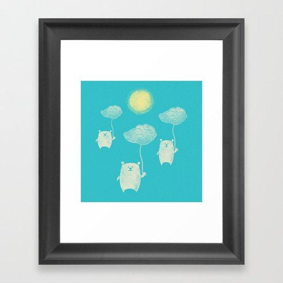 Bears In The Airs Framed Art Print