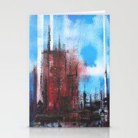 cityscape Stationery Cards featuring Cityscape by Alfred Raggatt