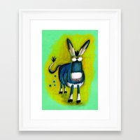 donkey Framed Art Prints featuring Donkey by t i t i l l a