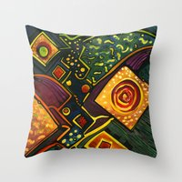 sparkles Throw Pillows featuring GALAXY SPARKLES by Deyana Deco