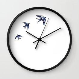 Portuguese Sparrow Andorinhas Wall Clock
