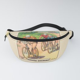 Cyclisme Cyclists Vintage Graphic Cycling Fanny Pack
