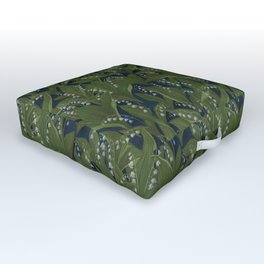 Lily of the Valley Field Outdoor Floor Cushion