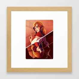 Miss Scarlett Framed Art Print