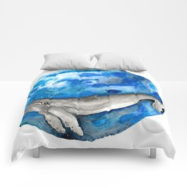 Blue World Whale Comforters