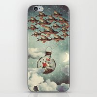 karu kara iPhone & iPod Skins featuring The Rose That Wanted to See the World by Paula Belle Flores