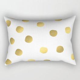 Painted spots of gold Rectangular Pillow