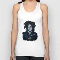 jack white Tank Tops featuring Typo-songs Jack White by Daniac Design