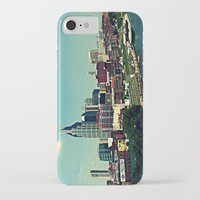nashville iPhone & iPod Cases featuring Nashville Skyline by Sydney Smith