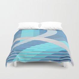 Resonance (blue-aqua) Duvet Cover